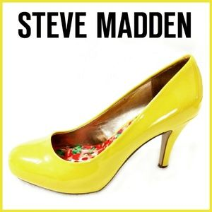 Steve Madden Daisy Bright Yellow Pump Heels